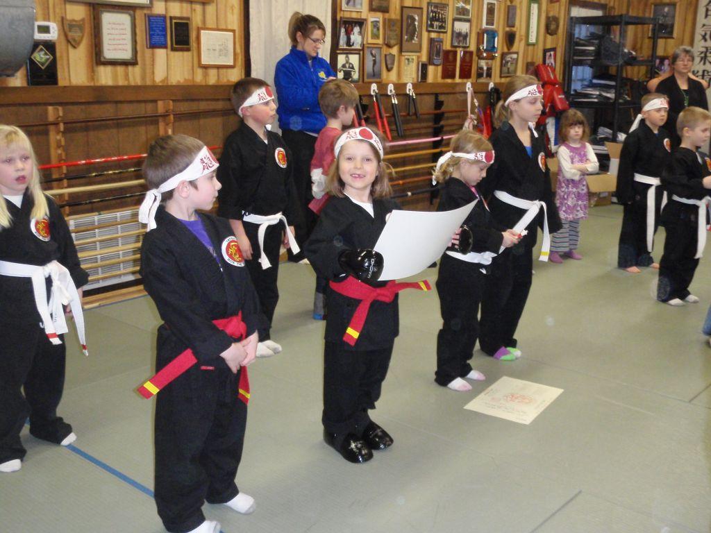 Nadia na zajęciach karate